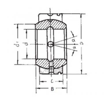 85 mm x 135 mm x 74 mm  FBJ GE85XS/K plain bearings