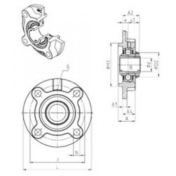 SNR UKFC215H bearing units