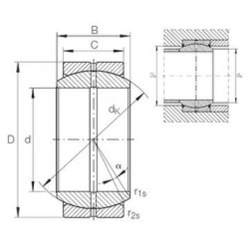 160 mm x 230 mm x 105 mm  INA GE 160 DO plain bearings