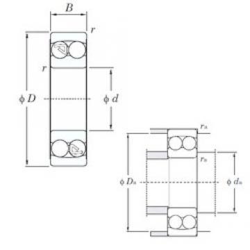 70 mm x 125 mm x 24 mm  KOYO 1214 self aligning ball bearings