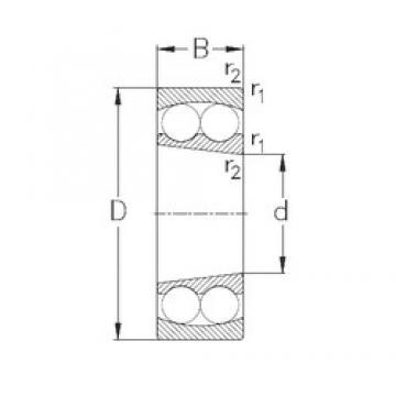 60 mm x 110 mm x 28 mm  NKE 2212-K self aligning ball bearings
