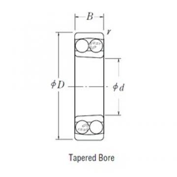 100 mm x 215 mm x 73 mm  NSK 2320 K self aligning ball bearings