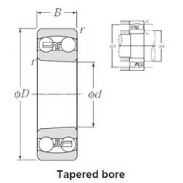 100 mm x 215 mm x 73 mm  NTN 2320SK self aligning ball bearings