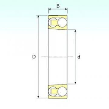 95 mm x 170 mm x 32 mm  ISB 1219 K self aligning ball bearings