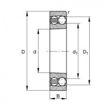 75 mm x 160 mm x 55 mm  FAG 2315-K-M-C3 self aligning ball bearings