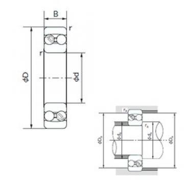 70 mm x 150 mm x 51 mm  NACHI 2314 self aligning ball bearings