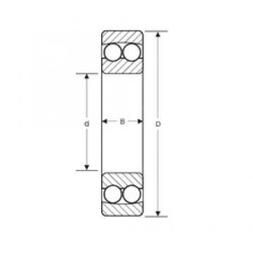 100 mm x 265 mm x 60 mm  SIGMA 10420 M self aligning ball bearings