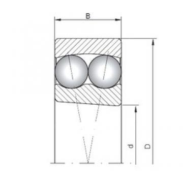 70 mm x 125 mm x 31 mm  ISO 2214K self aligning ball bearings