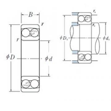 60 mm x 110 mm x 22 mm  NSK 1212 self aligning ball bearings