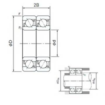 12 mm x 37 mm x 12 mm  NACHI 7301BDT angular contact ball bearings