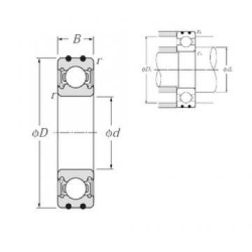 17 mm x 47 mm x 14 mm  NTN AC-6303LLU deep groove ball bearings