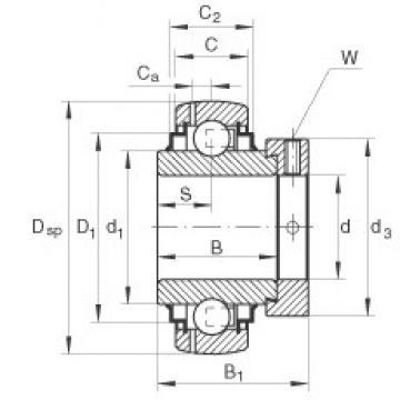 INA GE45-KLL-B deep groove ball bearings