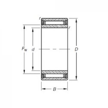 7 mm x 17 mm x 12 mm  Timken NKJ7/12 needle roller bearings