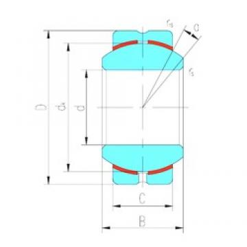 16 mm x 38 mm x 21 mm  LS GEBK16S plain bearings