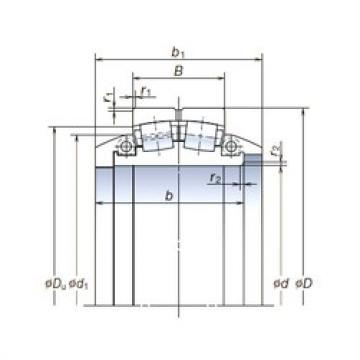 950 mm x 1 400 mm x 300 mm  NSK 950SLPT1451 spherical roller bearings