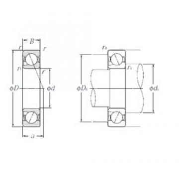 45 mm x 85 mm x 19 mm  NTN 5S-BNT209 angular contact ball bearings