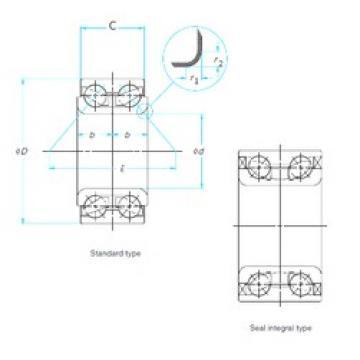 38 mm x 74 mm x 36 mm  NTN AU0814-1LLX/L260 angular contact ball bearings