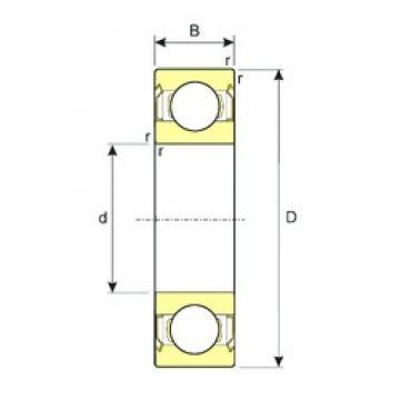 5 mm x 14 mm x 5 mm  ISB 605ZZ deep groove ball bearings