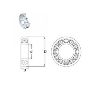 3 mm x 10 mm x 4 mm  ZEN 623-2Z deep groove ball bearings