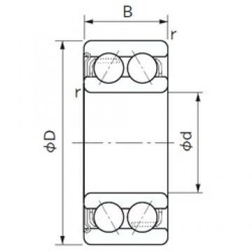75 mm x 130 mm x 41.3 mm  NACHI 5215Z angular contact ball bearings