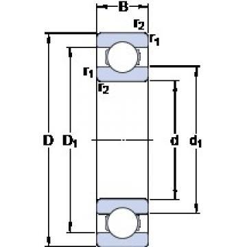190 mm x 340 mm x 55 mm  SKF 6238 deep groove ball bearings