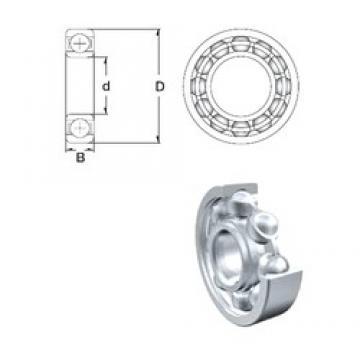 80 mm x 125 mm x 22 mm  ZEN 6016 deep groove ball bearings