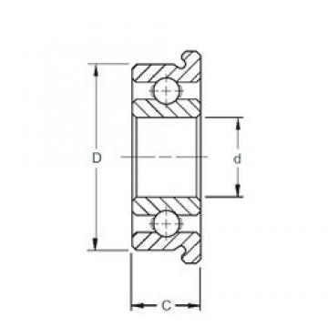 7 mm x 17 mm x 5 mm  ZEN SF697 deep groove ball bearings
