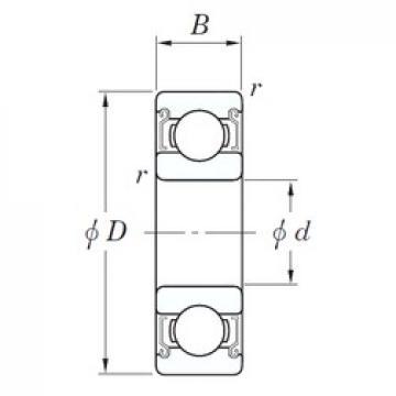 40 mm x 68 mm x 15 mm  KOYO SE 6008 ZZSTPR deep groove ball bearings
