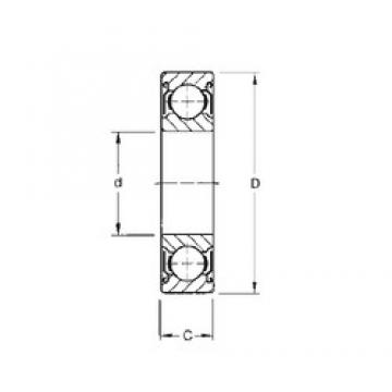 6,35 mm x 15,875 mm x 4,98 mm  Timken S1KDD7 deep groove ball bearings