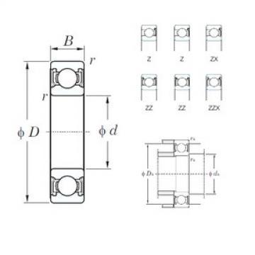 10 mm x 22 mm x 6 mm  KOYO 6900ZZ deep groove ball bearings