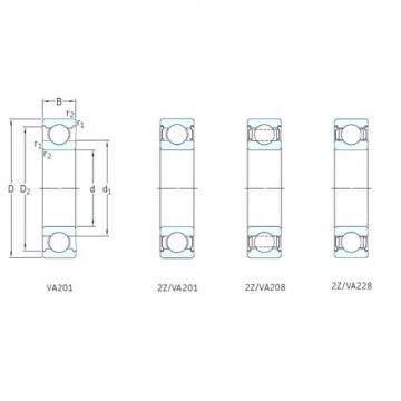 35 mm x 72 mm x 17 mm  SKF 6207-2Z/VA201 deep groove ball bearings