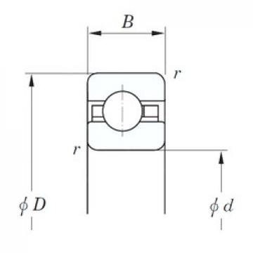 139,7 mm x 152,4 mm x 6,35 mm  KOYO KAC055 deep groove ball bearings