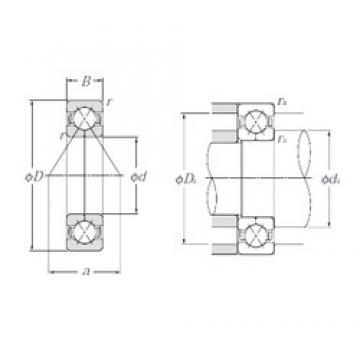 35 mm x 80 mm x 21 mm  NTN QJ307 angular contact ball bearings