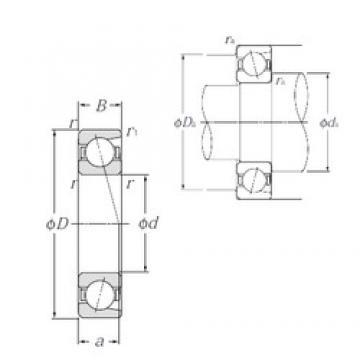 100 mm x 215 mm x 47 mm  NTN 7320B angular contact ball bearings