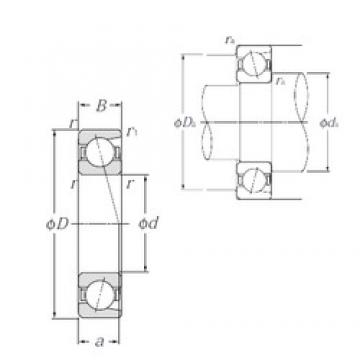 180 mm x 280 mm x 46 mm  NTN 7036 angular contact ball bearings