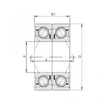 ISO 7313 CDB angular contact ball bearings