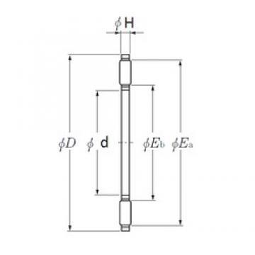 NTN AXK1101 needle roller bearings