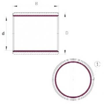22 mm x 25 mm x 15 mm  INA EGB2215-E40 plain bearings