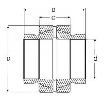 38,1 mm x 61,925 mm x 57,15 mm  SIGMA GEZM 108 ES plain bearings