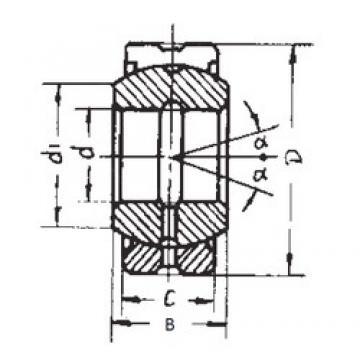 120 mm x 180 mm x 85 mm  FBJ GE120ES-2RS plain bearings