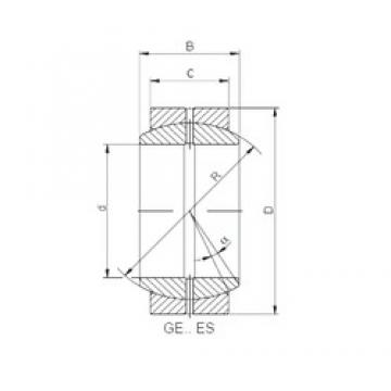 420 mm x 560 mm x 190 mm  ISO GE 420 ES plain bearings