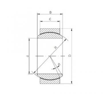 15 mm x 26 mm x 12 mm  ISO GE 015 ECR plain bearings