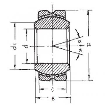 14 mm x 34 mm x 19 mm  FBJ GEBK14S plain bearings