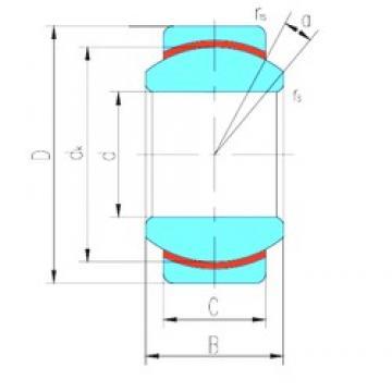 12 mm x 26 mm x 15 mm  LS GEG12N plain bearings