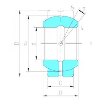 279,4 mm x 419,1 mm x 209,55 mm  LS GEZ279ES plain bearings