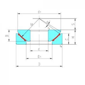 35 mm x 90 mm x 22 mm  LS GX35N plain bearings