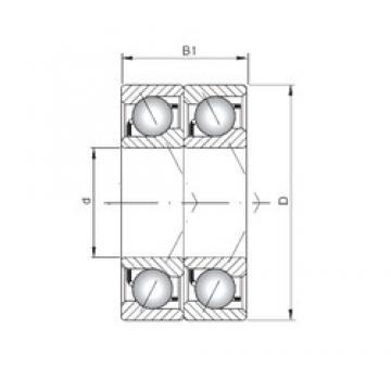 ISO 7204 BDT angular contact ball bearings