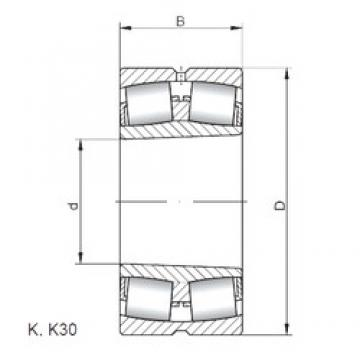 140 mm x 225 mm x 85 mm  ISO 24128 K30W33 spherical roller bearings