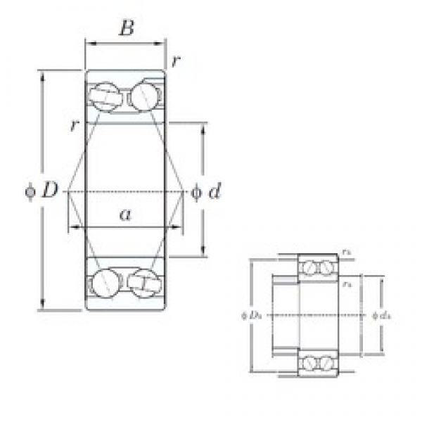 17 mm x 47 mm x 22.2 mm  KOYO 3303 angular contact ball bearings #3 image