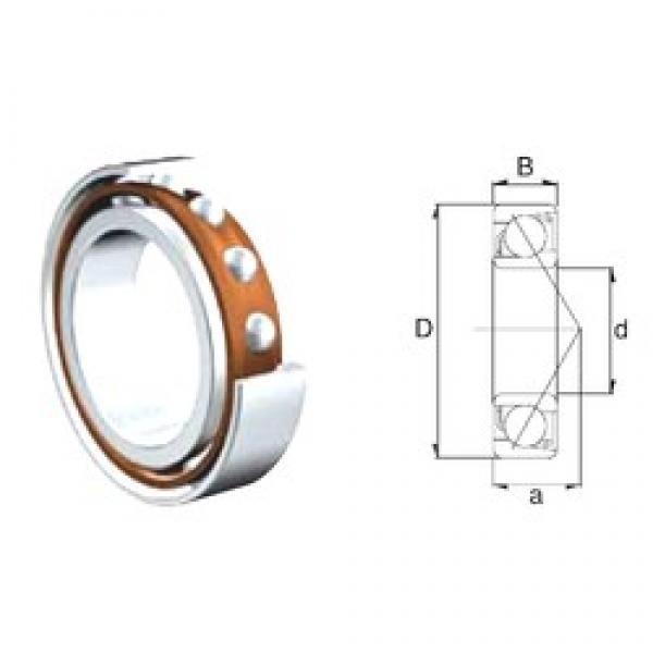 12 mm x 32 mm x 10 mm  ZEN 7201B-2RS angular contact ball bearings #3 image